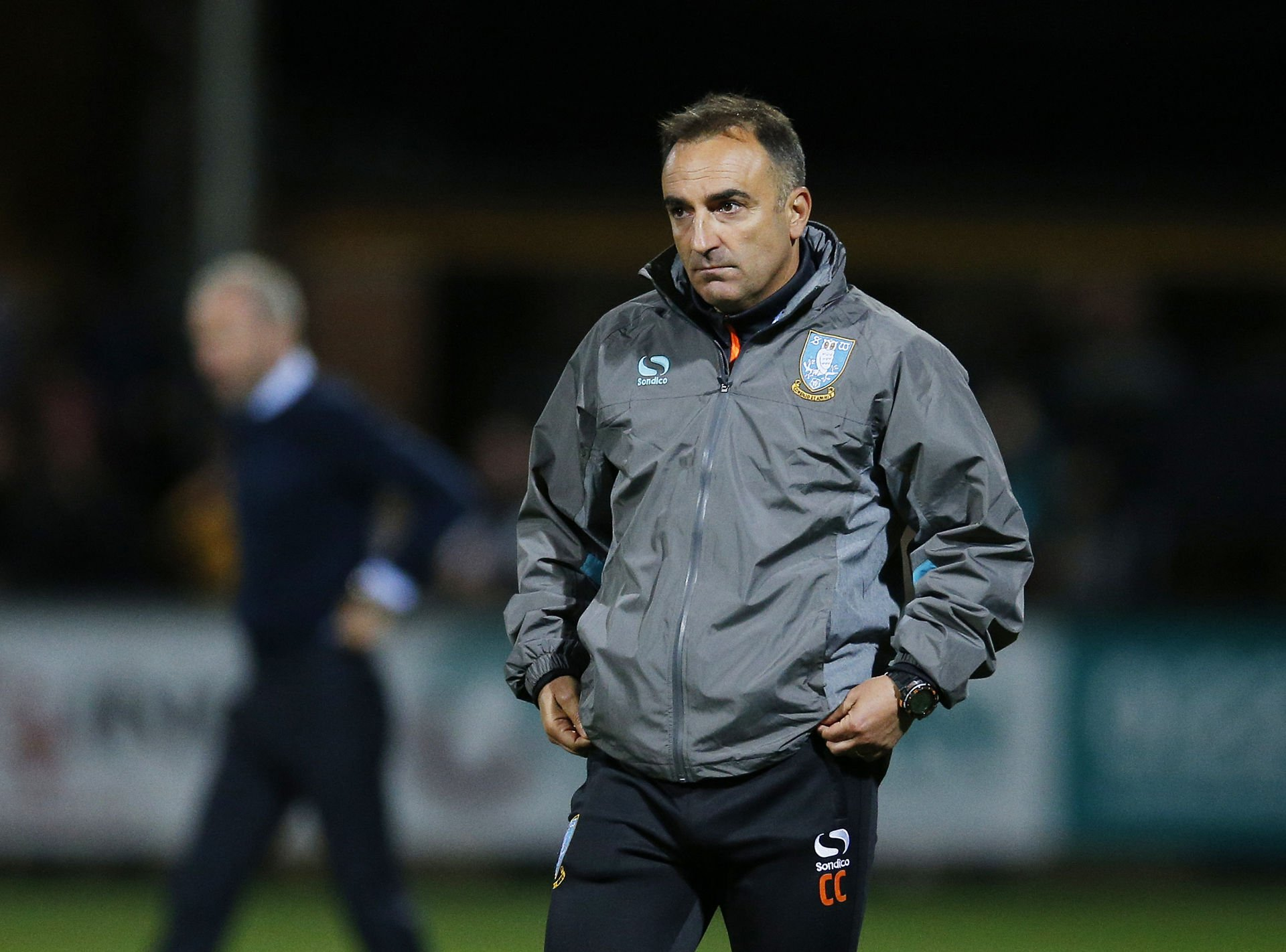 sheffield wednesday manager carlos carvalhal looks dejected at t 271744